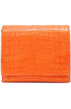 Сумка из кожи каймана Nancy Gonzalez оранжевая | Фото №1