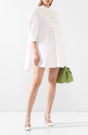 Женская кожаные туфли valentino garavani rockstud с ремешками VALENTINO белого цвета, арт. NW1S0393/VB8 | Фото 2