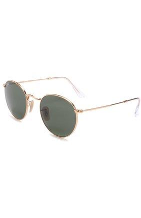 Женские солнцезащитные очки RAY-BAN золотого цвета, арт. 3447-001 | Фото 1