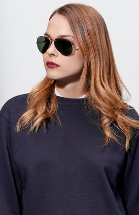 Женские солнцезащитные очки RAY-BAN золотого цвета, арт. 3025-L0205 | Фото 2