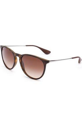 Женские солнцезащитные очки RAY-BAN коричневого цвета, арт. 4171-865/13 | Фото 1