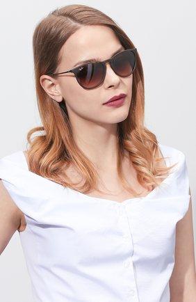Женские солнцезащитные очки RAY-BAN коричневого цвета, арт. 4171-865/13 | Фото 2