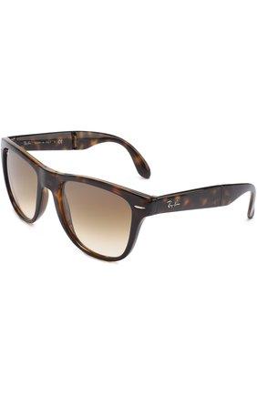 Женские солнцезащитные очки RAY-BAN темно-коричневого цвета, арт. 4105-710/51 | Фото 1