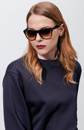 Женские солнцезащитные очки RAY-BAN темно-коричневого цвета, арт. 4105-710/51 | Фото 2