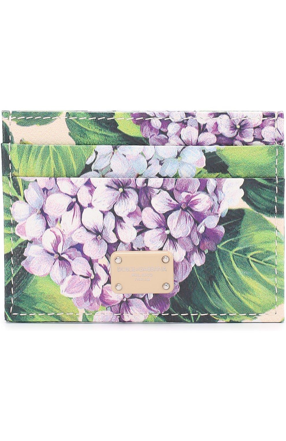 Кожаный футляр для кредитных карт с принтом   Фото №1