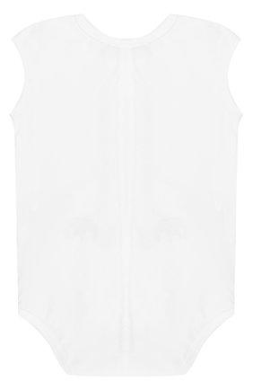 Детское хлопковое боди с принтом STICKY-FUDGE белого цвета, арт. KALI | Фото 2