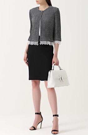 Женская юбка-карандаш фактурной вязки ST. JOHN черного цвета, арт. K74K000 | Фото 2