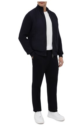 Мужские шерстяные брюки Z ZEGNA темно-синего цвета, арт. V8475ZZTP60 | Фото 2 (Длина (брюки, джинсы): Стандартные; Статус проверки: Проверено; Материал внешний: Шерсть; Случай: Повседневный)