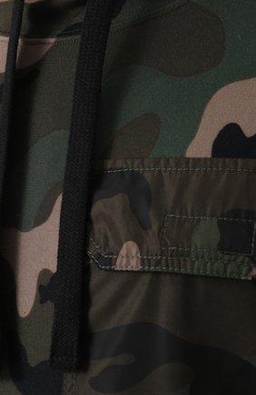 Хлопковое худи с камуфляжным принтом   Фото №5