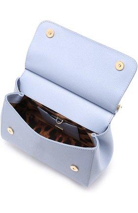 Сумка Sicily small с декорированной ручкой Dolce & Gabbana голубая цвета   Фото №4