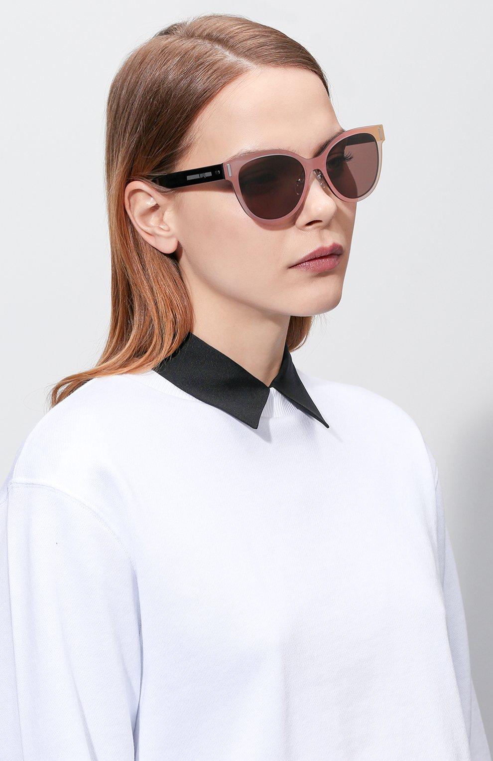 Женские солнцезащитные очки MCQ SWALLOW светло-розового цвета, арт. 0023 002 | Фото 2