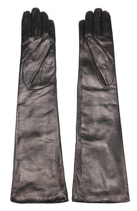Кожаные перчатки Sermoneta Gloves черные | Фото №1