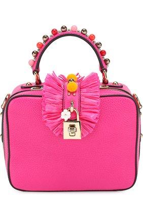 Сумка Dolce Soft с декором Dolce & Gabbana фуксия цвета | Фото №1