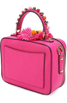 Сумка Dolce Soft с декором Dolce & Gabbana фуксия цвета | Фото №2