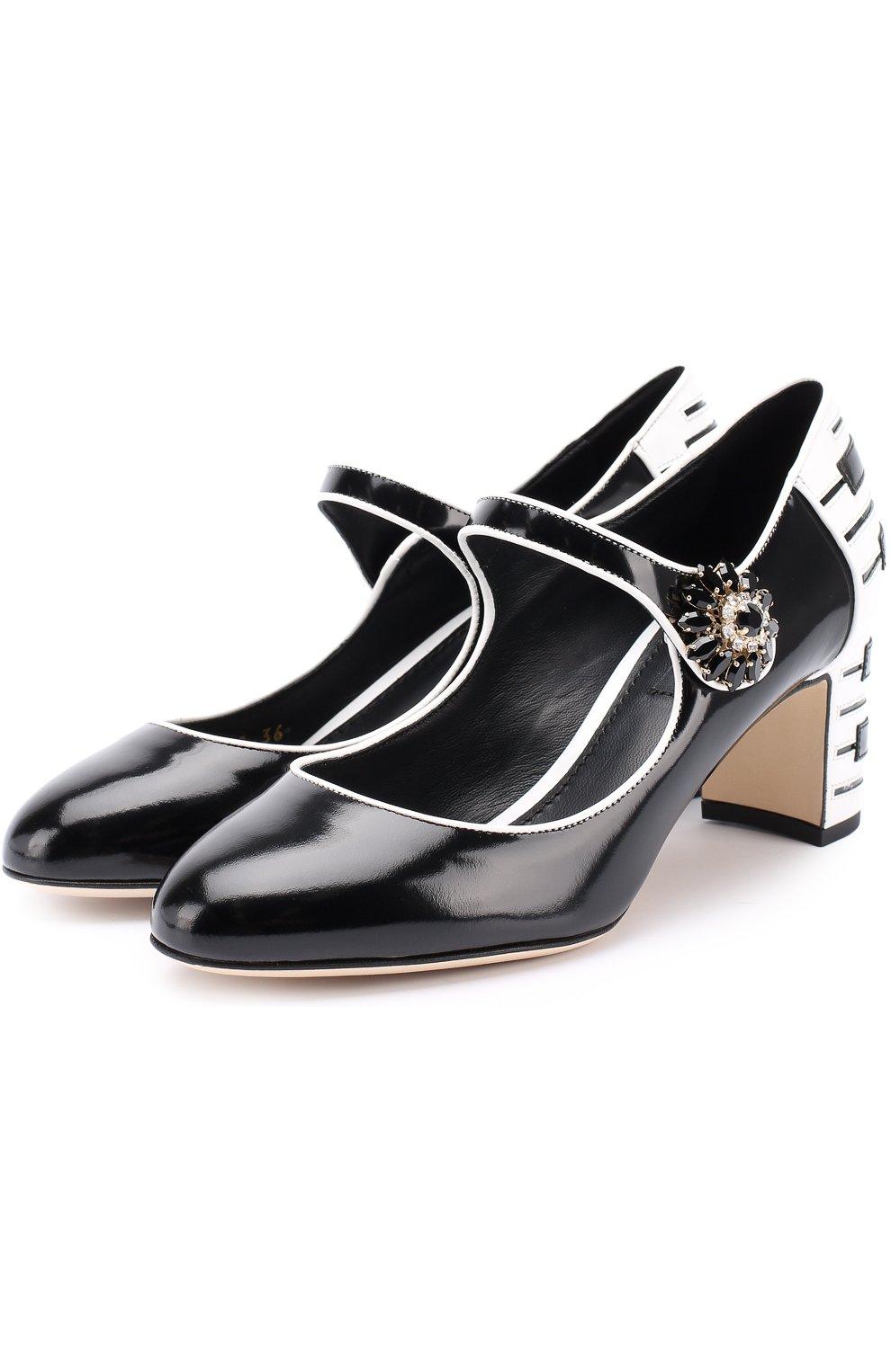 Кожаные туфли Vally с декоративной отделкой   Фото №1