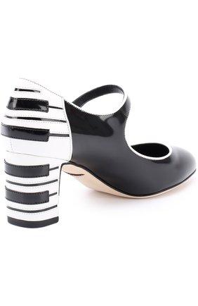 Кожаные туфли Vally с декоративной отделкой Dolce & Gabbana черные   Фото №4