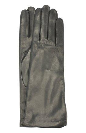 Кожаные перчатки Sermoneta Gloves темно-серые   Фото №1