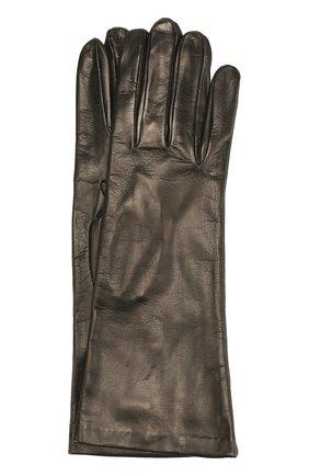 Кожаные перчатки Sermoneta Gloves серые | Фото №1