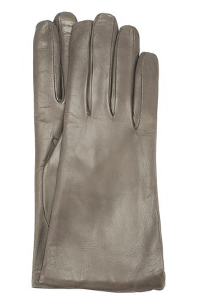 Кожаные перчатки Sermoneta Gloves серые   Фото №1