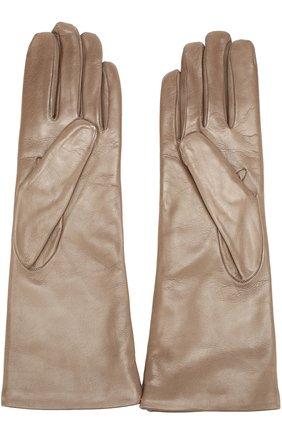 Кожаные перчатки Sermoneta Gloves бежевые | Фото №1
