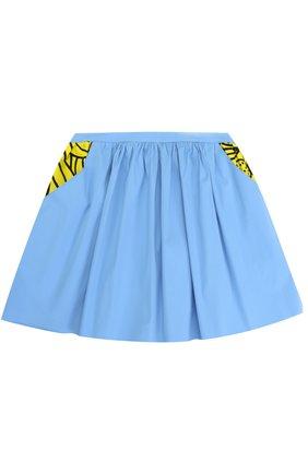 Мини-юбка свободного кроя с принтом | Фото №1