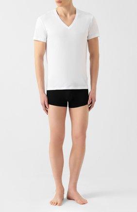 Мужские хлопковая футболка LA PERLA белого цвета, арт. P022169 | Фото 2