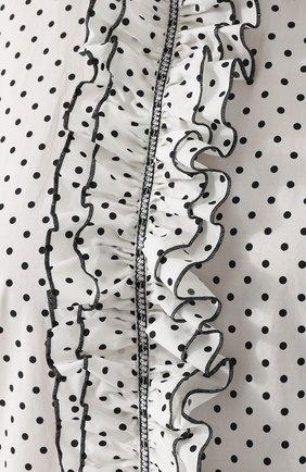 Блуза в горох с оборками и баской Dolce & Gabbana белая | Фото №5