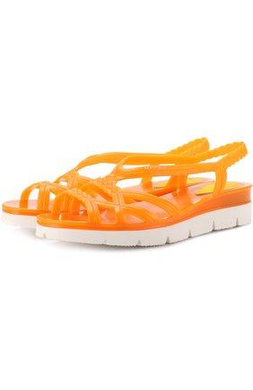 Резиновые сандалии на контрастной подошве | Фото №1