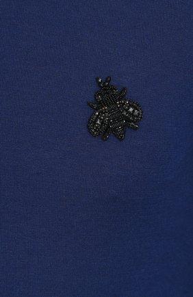 Кашемировый джемпер тонкой вязки с вышивкой | Фото №5