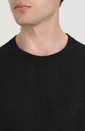 Джемпер тонкой вязки из смеси шерсти и кашемира с шелком | Фото №5