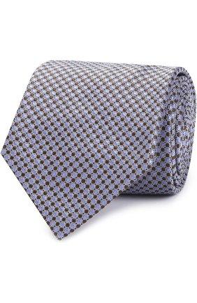 Мужской шелковый галстук с узором BRIONI сиреневого цвета, арт. 062H/06447   Фото 1