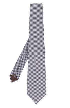 Мужской шелковый галстук с узором BRIONI сиреневого цвета, арт. 062H/06447   Фото 2