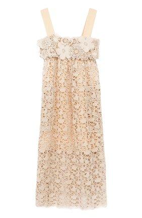 Кружевное платье-миди с завышенной талией