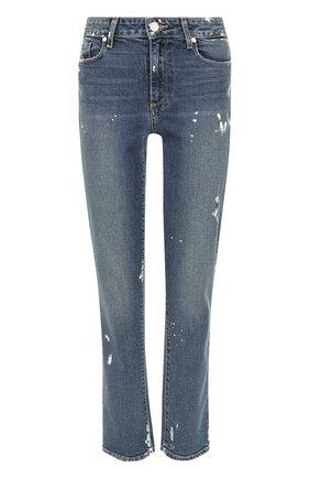 Укороченные джинсы с потертостями | Фото №1