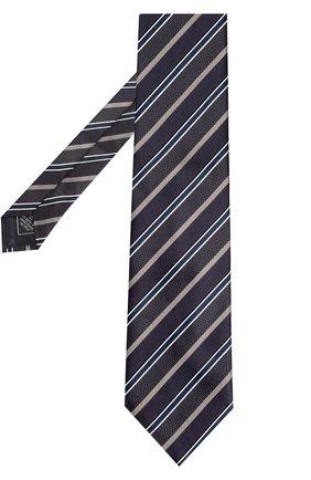 Шелковый галстук в полоску | Фото №2