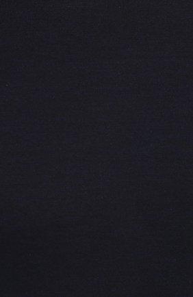 Шелковая футболка с круглым вырезом Dolce & Gabbana синяя | Фото №5