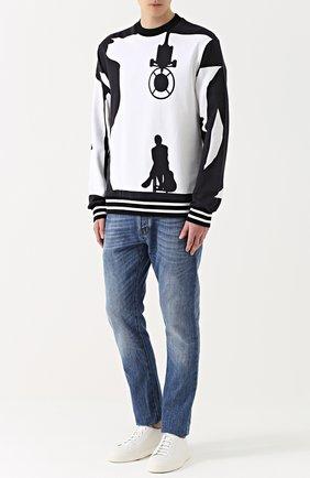 Хлопковый свитшот с принтом | Фото №2