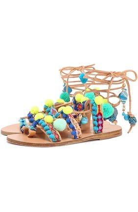 Кожаные сандалии Mermaid Motel с декором | Фото №1