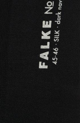 Мужские шелковые носки FALKE темно-синего цвета, арт. 14661 | Фото 2