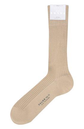 Мужские хлопковые носки FALKE бежевого цвета, арт. 14649 | Фото 1