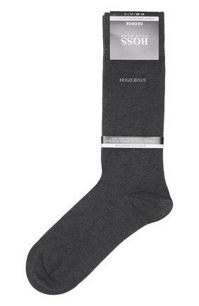 Мужские хлопковые носки BOSS серого цвета, арт. 50272198 | Фото 1