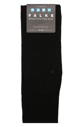 Мужские хлопковые носки sensitive malaga FALKE черного цвета, арт. 14646 | Фото 1