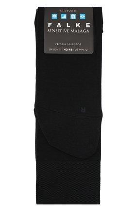 Мужские хлопковые носки sensitive malaga FALKE темно-синего цвета, арт. 14646 | Фото 1