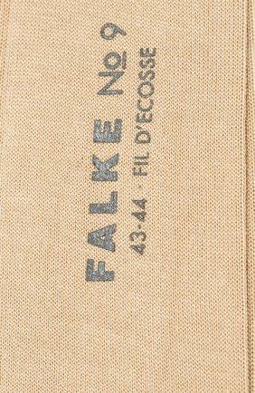 Мужские хлопковые носки FALKE бежевого цвета, арт. 14651 | Фото 2