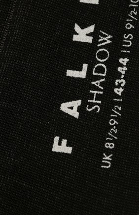 Мужские хлопковые носки shadow FALKE черного цвета, арт. 14648 | Фото 2