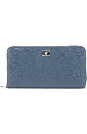 Кожаное портмоне на молнии с отделением для кредитных карт | Фото №1