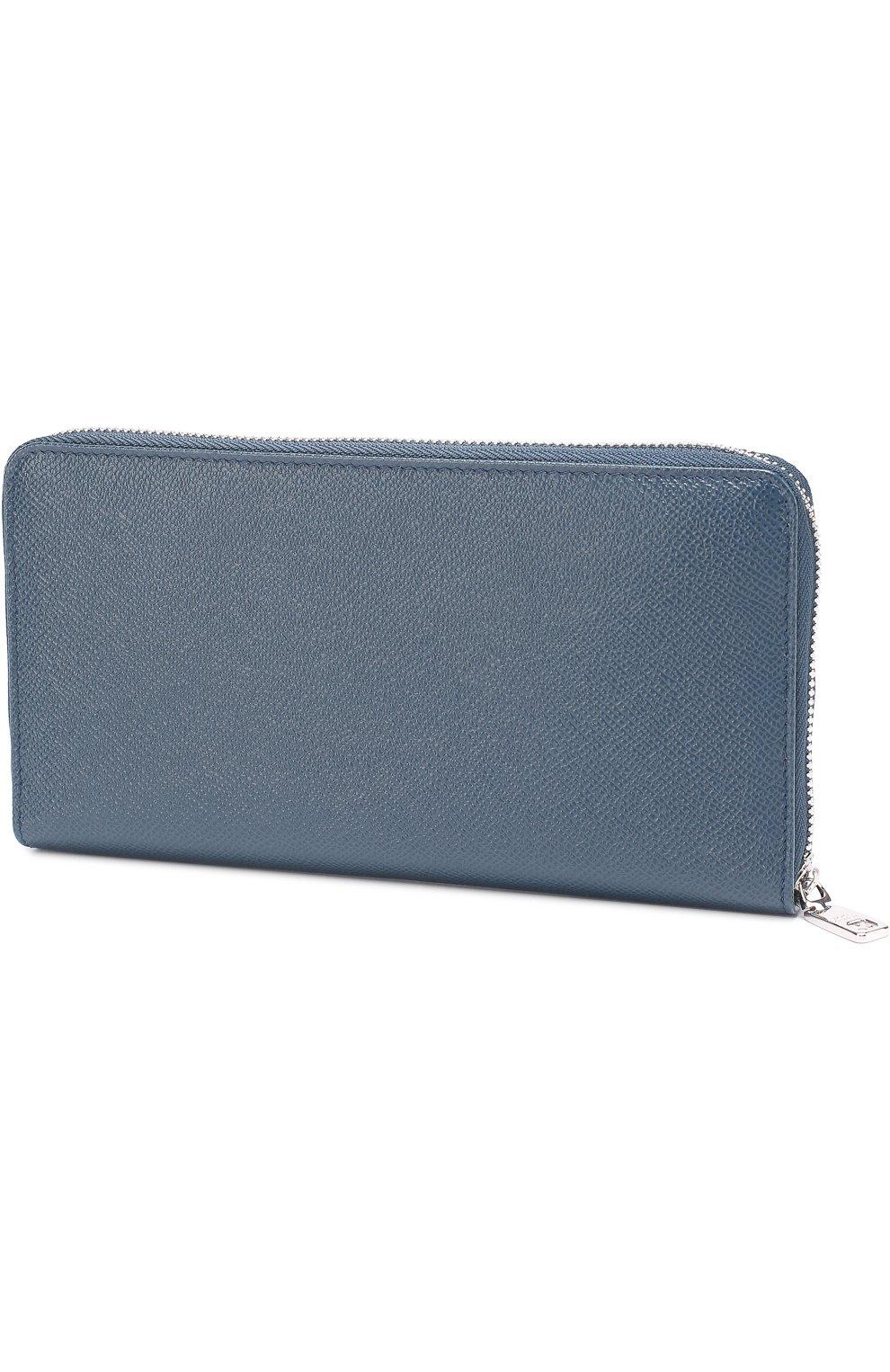 Кожаное портмоне на молнии с отделением для кредитных карт | Фото №2
