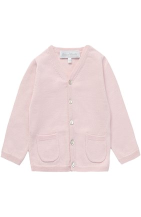 Детский кашемировый кардиган с карманами TARTINE ET CHOCOLAT розового цвета, арт. TH18191/1M-18M | Фото 1