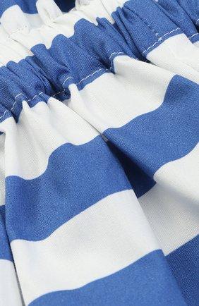 Хлопковая юбка в полоску с накладными карманами | Фото №3