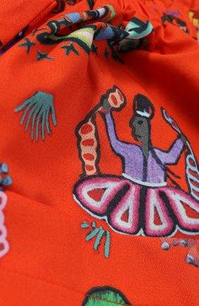 Хлопковая юбка с принтом и накладными карманами | Фото №3